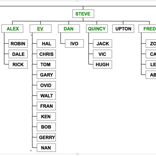 The organization chart